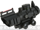 Spartan Imports Illuminated 4x32 Scope with Fiber Optic Back Up Sights with Integrated Rail Mount