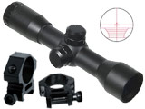 AIM 4X32 Compact Mil-Dot Scope w/ Ranger Finder Recticle & Steel Ring Mounts