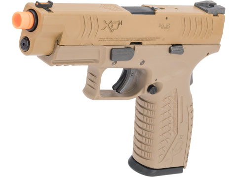 Evike Exclusive Springfield Armory Licensed XDM Gas Blowback Airsoft Training Pistol (Model: 4.5 Duty / FDE)