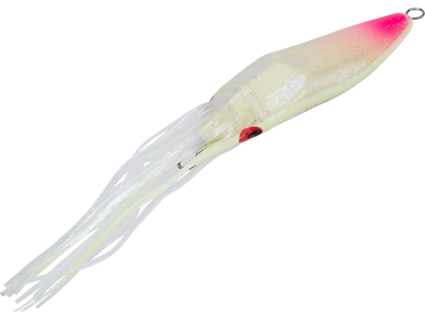 Sea Falcon Slow Squid - Swimming Deep Sea Fishing Jig (Model: Clear, Pink w/ Glow Stripe / 60g)