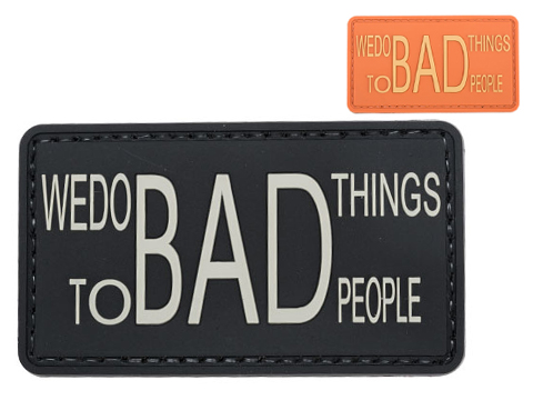 Matrix We Do Bad Things to Bad People PVC Morale Patch (Color: Black)