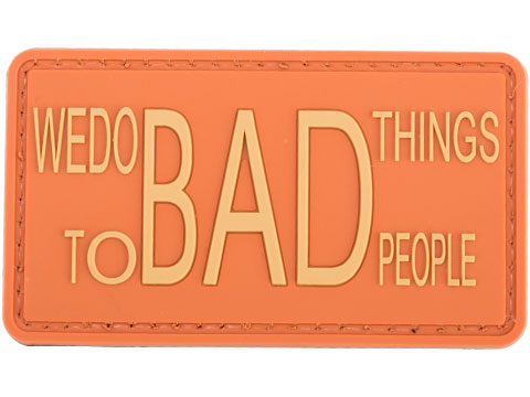 Matrix We Do Bad Things to Bad People PVC Morale Patch (Color: Orange)