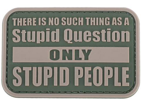 Matrix Stupid Questions PVC Morale Patch