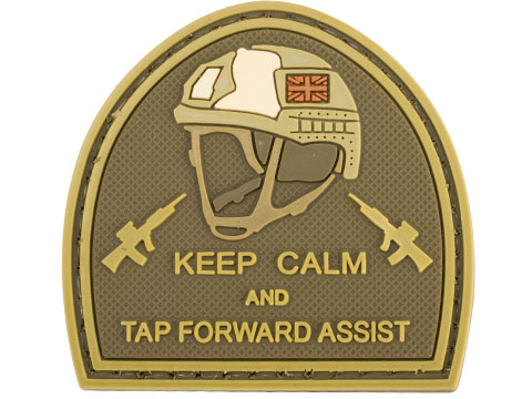 Matrix Keep Calm PVC Morale Patch (Color: Tan)