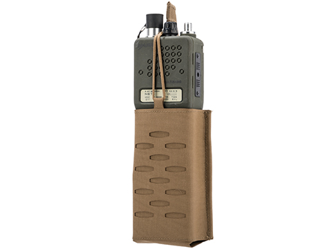 Sentry Staggered Column Radio Pouch (Color: Coyote Brown)