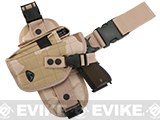 Special Force Quick Draw Tactical Thigh Holster with Drop Leg Panel (Desert Camo / Left)