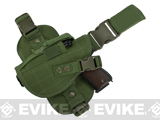 Matrix Special Force Quick Draw Tactical Thigh Holster w/ Drop Leg Panel (Color: OD Green / Left Leg)