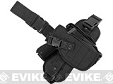 Matrix Special Force Quick Draw Tactical Thigh Holster w/ Drop Leg Panel (Color: Black / Right)