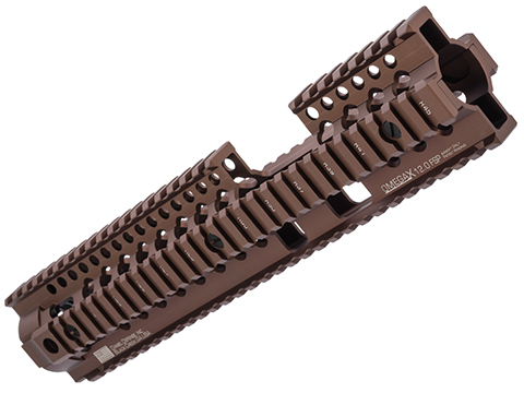 Daniel Defense Licensed Omega X Rail System for Airsoft AEG by Madbull (Color: Dark Earth / 12 / LW)