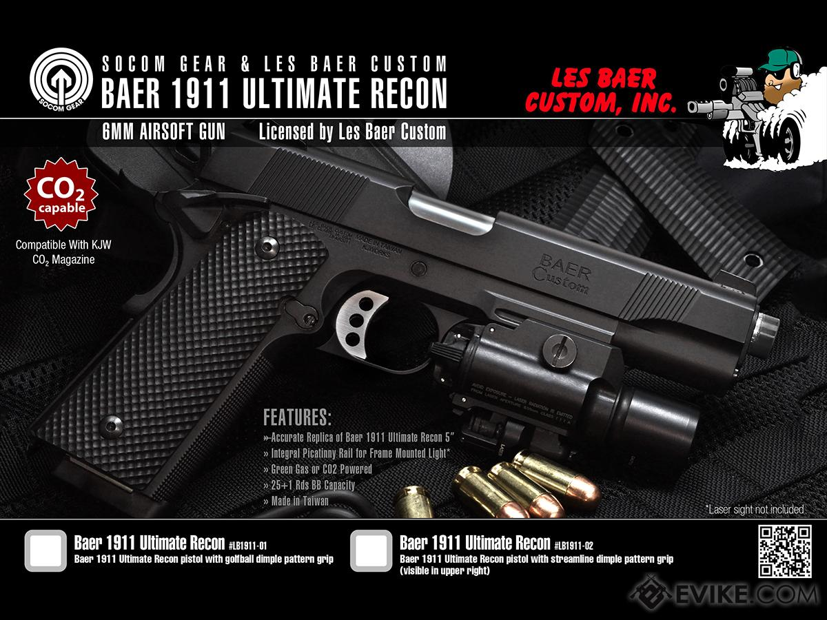 SOCOM Gear Les Baer Licensed Ultimate Recon 1911 Airsoft GBB Pistol