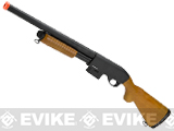 A&K M870 Type Full Metal 400 FPS Airsoft Training Shotgun (Version: Long Version / Real Wood)