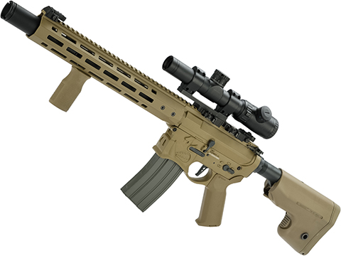 EMG / Sharps Bros Warthog Licensed Full Metal Advanced M4  Airsoft AEG Rifle (Color: Tan / 15 Carbine)