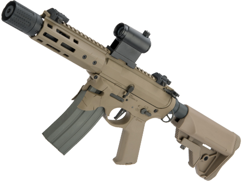 EMG / Sharps Bros Overthrow Licensed Advanced M4 Airsoft AEG Training Rifle (Color: Dark Earth/ 8 PDW)