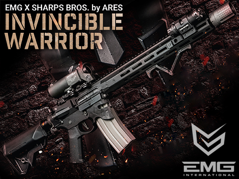 EMG / Sharps Bros Overthrow Licensed Full Metal Advanced M4 Airsoft AEG Training Rifle w/ Slim Motor Grip