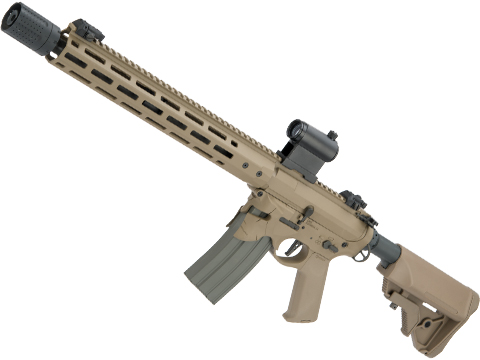 EMG / Sharps Bros Overthrow Licensed Full Metal Advanced M4 Airsoft AEG Training Rifle (Color: Dark Earth / 16 RECCE)