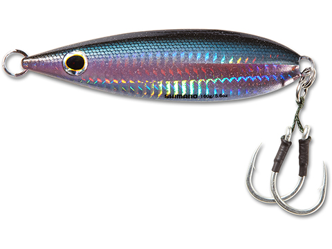 Shimano Butterfly Flat Fall Jig (Color: Black Anchovy / 250g)