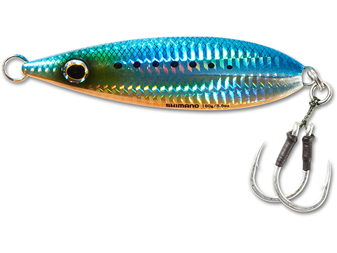 Shimano Butterfly Flat Fall Jig (Color: Blue Sardine / 160g)