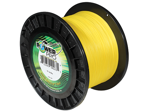 Power Pro Spectra Fiber Braided Fishing Line (Color: Hi-Vis Yellow / 20 Pounds / 3000 Yards)