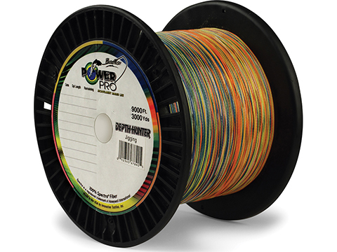 Power Pro Spectra Fiber Depth-Hunter Multi Color Braided  Fishing Line (Test: 15 Pounds / 3000 Yards)