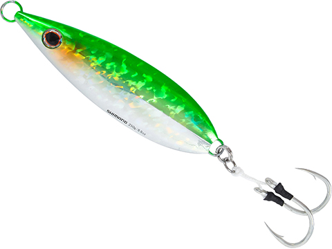 Shimano Butterfly Flat Fall Jig (Color: Green Silver / 80g)