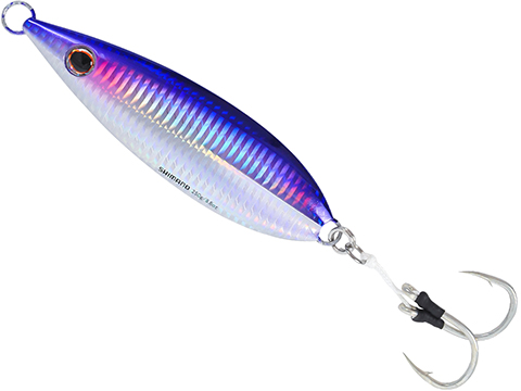 Shimano Butterfly Flat Fall Jig (Color: Purple Silver / 80g)