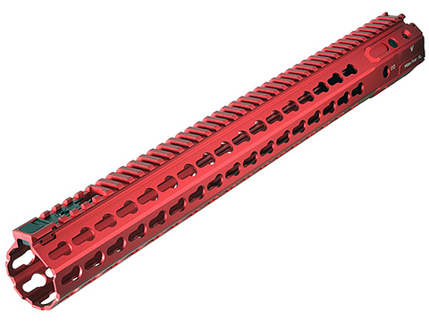 Strike Industries Mega Fins XL Handguard w/ KeyMod (Size: 17 / Red)