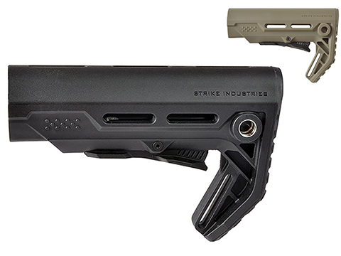 Strike Industries Viper CQB Adjustable Stock for AR15 Rifles (Color: Black)