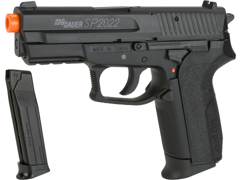 Swiss Arms Licensed SIG Sauer SP2022 CO2 Airsoft Gas Non-Blowback Pistol by KWC (Model: Reload Package)