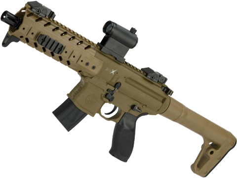 SIG Sauer MPX ASP Co2 Powered .177 cal Semi-Automatic Airgun (Color: Flat Dark Earth)