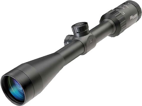 SIG SAUER WHISKEY3 3-9x40mm Rifle Scope (Reticle: Quadplex)