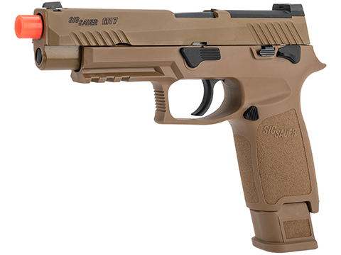 SIG Sauer ProForce P320 M17 MHS Airsoft GBB Pistol (Color: Tan / Green Gas)