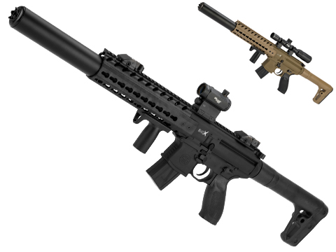 SIG Sauer MCX ASP Co2 Powered .177 cal Semi-Automatic Airgun w/ 1-4x24 Scope (Color: Black)