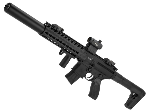 SIG Sauer MCX ASP Co2 Powered .177 cal Semi-Automatic Airgun (Color: Black)