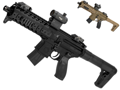 SIG Sauer MPX ASP Co2 Powered .177 cal Semi-Automatic Airgun w/ Red Dot Optic