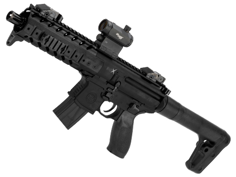 SIG Sauer MPX ASP Co2 Powered .177 cal Semi-Automatic Airgun (Color: Black)