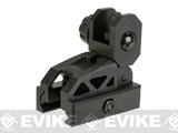 Valken Airsoft Polymer Folding Rear Back-Up Sight - Black