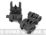Command Arms (CAA) Licensed Low Profile Flip-up Sights Set - Black