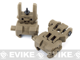 Command Arms (CAA) Licensed Low Profile Flip-up Sights Set - Dark Earth