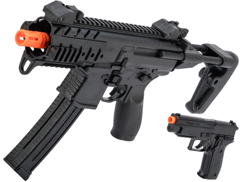 SIG Sauer SIG AIR MPX / P226 Airsoft Spring Powered PDW and Pistol Kit (Color: Black)