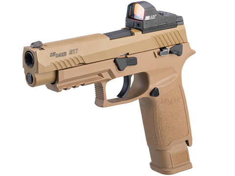 SIG Sauer ProForce P320 M17 MHS Airsoft GBB Pistol (Color: Tan / CO2)
