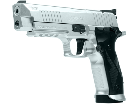 SIG Sauer X-Five CO2 Powered Blowback 4.5mm Airgun Pistol (Color: Silver)