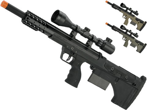 Desert Tech SRS-A1 20 Sport Gen3 Pull Bolt Action Bullpup Sniper Rifle by Silverback Airsoft (Color: Black / Right-Handed)