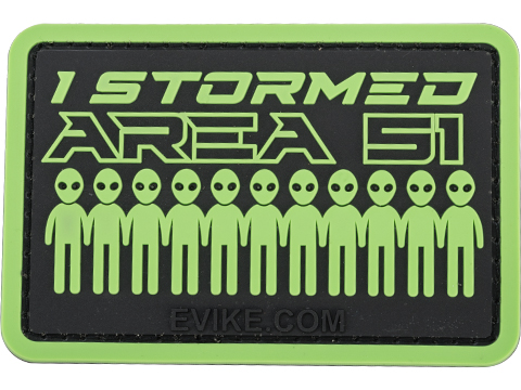 Evike.com I Stormed Area 51 PVC Morale Patch