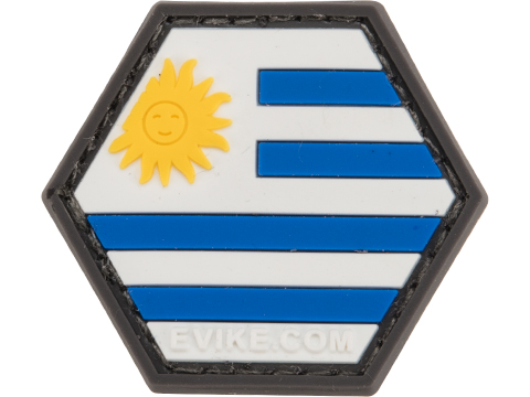 Operator Profile PVC Hex Patch Flag Series (Country: Uruguay)