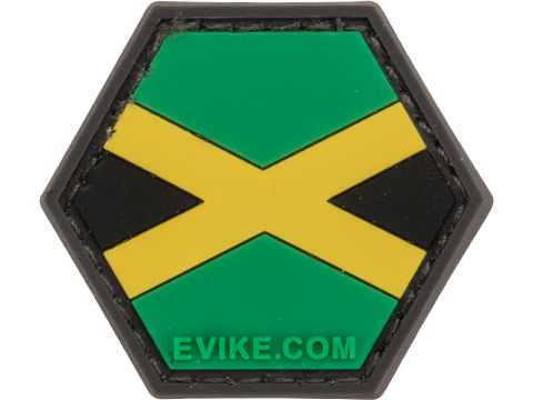 Operator Profile PVC Hex Patch Flag Series (Country: Jamaica)