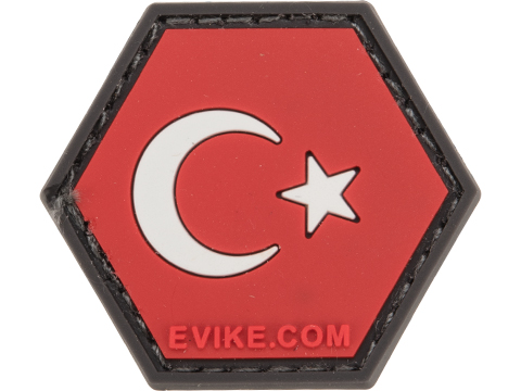 Operator Profile PVC Hex Patch Flag Series (Country: Turkey)