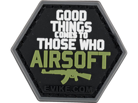 Operator Profile PVC Hex Patch Catchphrase Series (Style: Good Things Come)