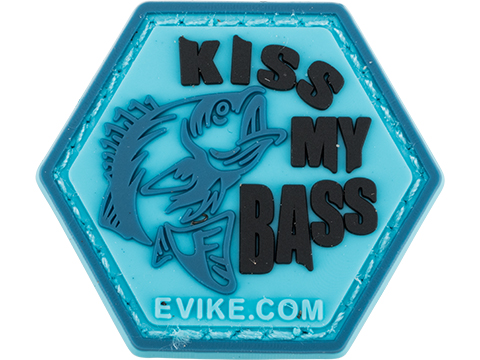Operator Profile PVC Hex Patch Fishing Series (Style: Kiss My Bass)