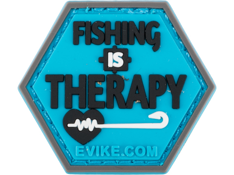 Operator Profile PVC Hex Patch Fishing Series (Style: Fishing is Therapy)