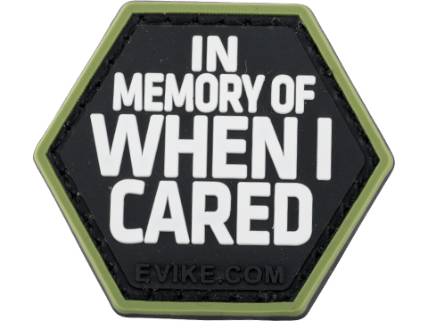 Operator Profile PVC Hex Patch Catchphrase Series (Style: When I Cared)